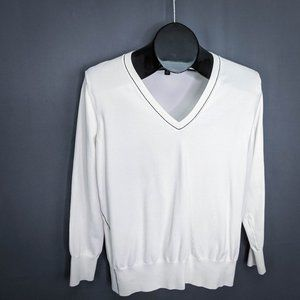 Banana Republic Womens Sweater Small White Stretch